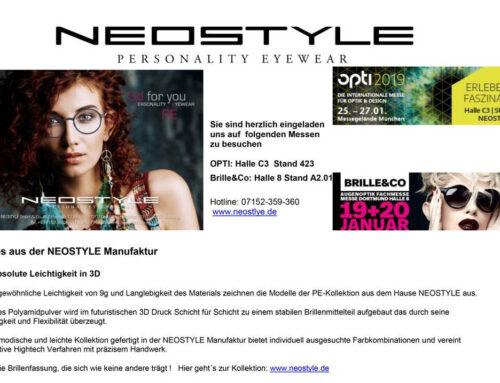 NEOSTYLE bei der Brille&Co und Opti München