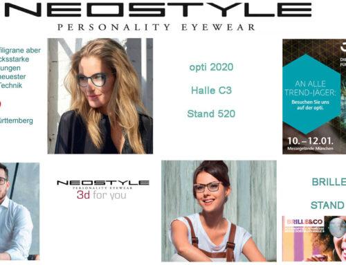 NEOSTYLE auf der Opti Muenchen und Brille&Co 2020